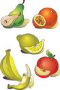 A set of clipart  fruit Stock Photo