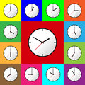 Set clock icon Vector illustration design EPS10