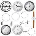 Set of clocks. Royalty Free Stock Photography