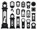 Set of clocks.