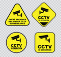 Set of Closed Circuit Television (CCTV) Royalty Free Stock Photo