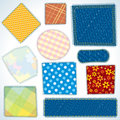 Set of Cloth Patches Royalty Free Stock Image
