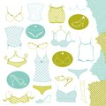 Set of clothes woman underwear vector illustration Royalty Free Stock Photography