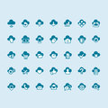 Set of cloud computing icons vector Royalty Free Stock Photography