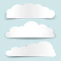 Set of cloud-shaped paper banners Stock Photo