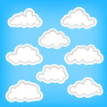 Set clouds as background elements Royalty Free Stock Image