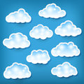 Set clouds blue Stock Image