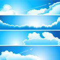 Set of clouds elements are grouped and layered opacity and transparency screen soft light used are made with unexpanded blend easy Stock Photo