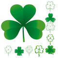 Set of clovers Royalty Free Stock Image