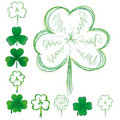 Set of clovers Royalty Free Stock Photos