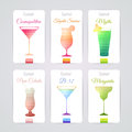 Set of cocktail banners Royalty Free Stock Photo