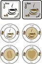 Set of coffee design elements vector Royalty Free Stock Photo