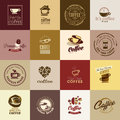Set of coffee icons Royalty Free Stock Photo