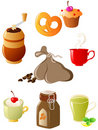 Set of coffee and tea icons Royalty Free Stock Photo