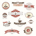 Set of coffee vintage badges and labels eps Royalty Free Stock Photography