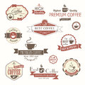 Set of coffee vintage badges and labels eps Royalty Free Stock Photos