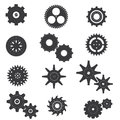 Set of Cog and Machine Vector and Icon