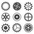 Set of Cog Wheel Royalty Free Stock Photo