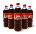 Set of cola drinks in plastic bottles Stock Photos