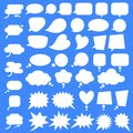 Set, collection of flat style vector speech bubbles, clouds, baloons