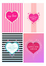 Set Collection Valentines card heart