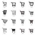 Set collection of vector shopping cart icons Royalty Free Stock Photography