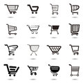 Set collection of vector shopping cart icons Royalty Free Stock Image