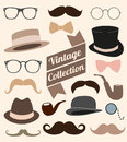 Set of collection vintage fashion elements illustration Stock Photography