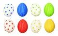 Set of cololrful Easter eggs