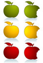 Set of color apples Royalty Free Stock Photo