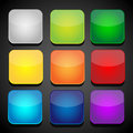 Set of color apps icons background vector eps Royalty Free Stock Images