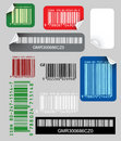Set of color bar codes Royalty Free Stock Photos