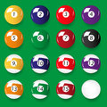 Set of 16 color billiards balls