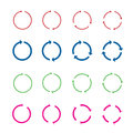 Set of color circle vector arrows.Vector illustration.