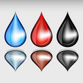 Set of color drops. Royalty Free Stock Photos