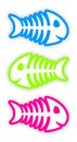 Set of color fish bone stickers three Stock Photo