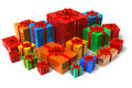 Set of color gift boxes Royalty Free Stock Photo