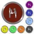 Color dollar cash machine buttons Royalty Free Stock Photo