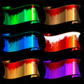 Set of color glossy ribbons Stock Photography