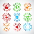 Set of color labels. Royalty Free Stock Photography