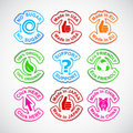 Set of color labels. Stock Photography