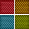Set of color leather upholstery. Stock Images