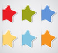 Set of color paper stars Royalty Free Stock Image