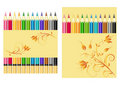 Set of color pencils. Royalty Free Stock Photography