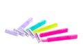 Set of color shaving razor isolated on white background Stock Photography