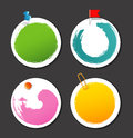 Set of color stickers with splash Royalty Free Stock Photo