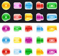 Set of color storage device Stock Images