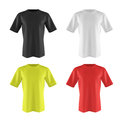 stock image of  Set of color T-shirt isolated on white. 3d render