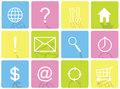 Set of color vector flat design icons. Royalty Free Stock Photo