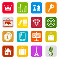 Set color web icons Royalty Free Stock Photography